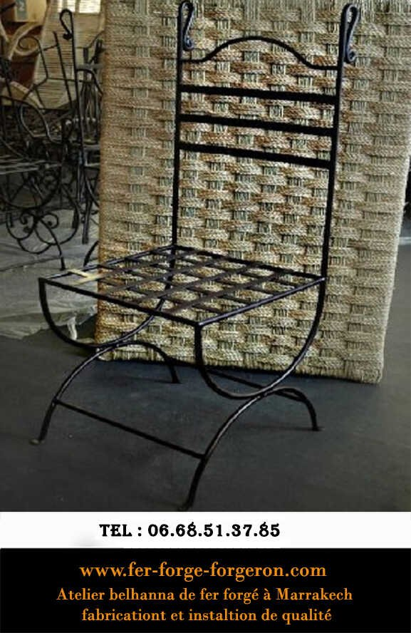 Chaise-marocaine-fer-forge-marrakech