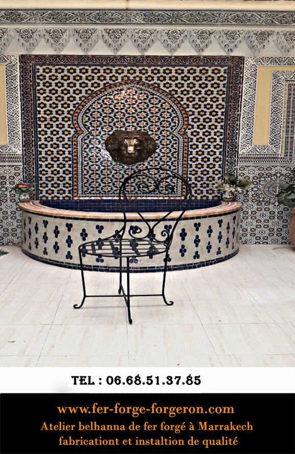 Chaise-marocaine-fer-forge