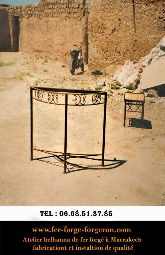 Console-table-et-fer-forge-