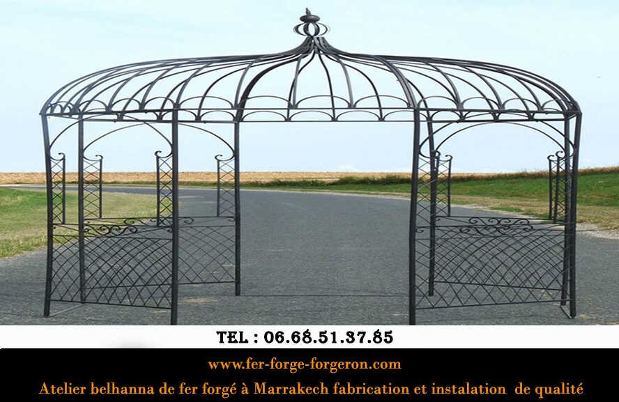 Fabricant-tonnelle-fer-forge-ronde