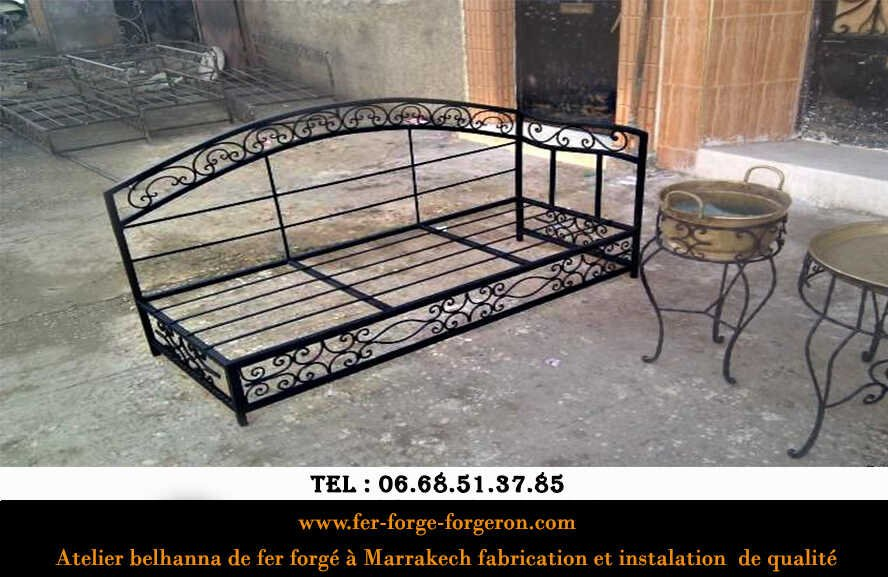 Fauteuil-fer-forge