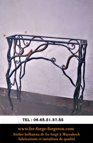 table console fer forgé